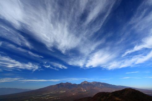 八ヶ岳と高層雲