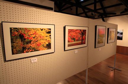 参加者写真展の一部・印象的かつ情緒的な写真が並ぶ