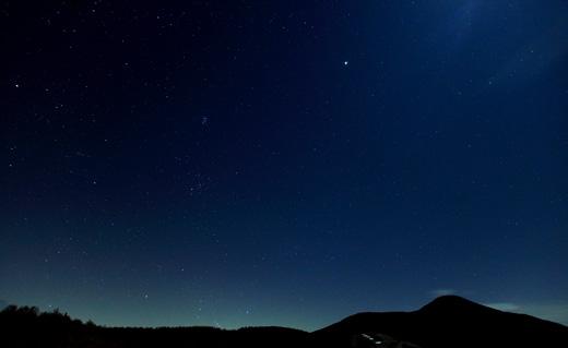 女神山の星空