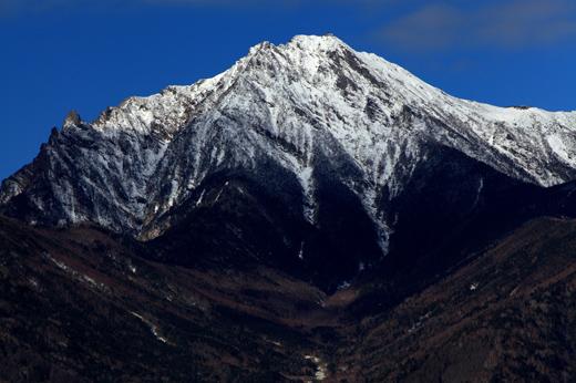 新雪の赤岳
