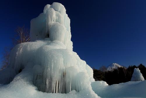 樹氷と霊峰富士と