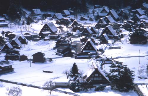 白川郷雪景色
