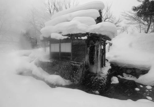 水車小屋雪煙