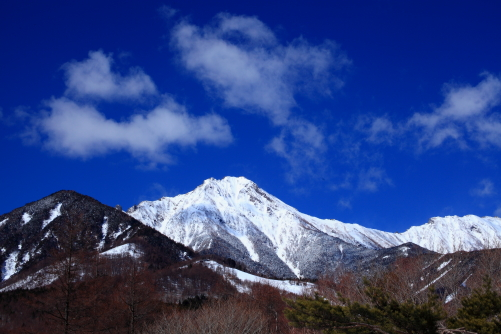 赤岳と横岳と雲