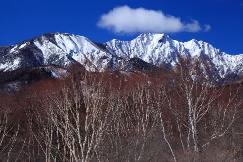 権現岳と三ツ頭山