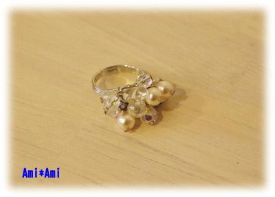 ビーズの指輪