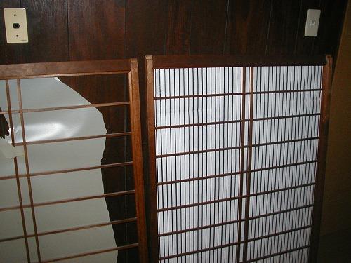 障子戸を紙から樹脂シートに変えてNG→通気遮光シートの変更3