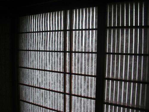 障子戸を紙から樹脂シートに変えてNG→通気遮光シートの変更4