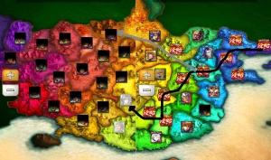 全土侵攻の大志 地図