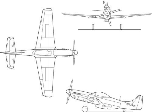 P-51三面図