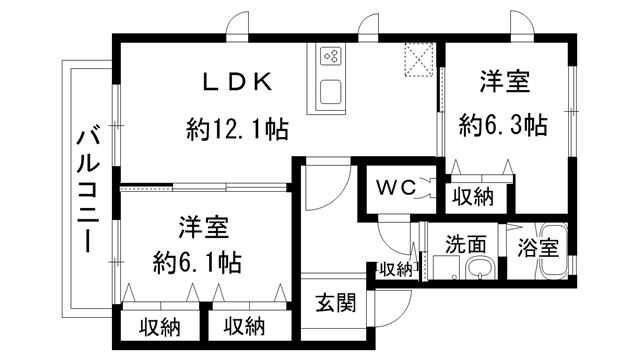 (2LDK)シャーメゾン夢源B101号室