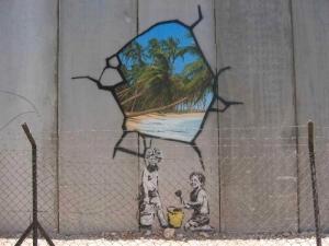 バンクシー ガザの壁