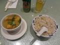 エッグフライドライスとワンタンスープ