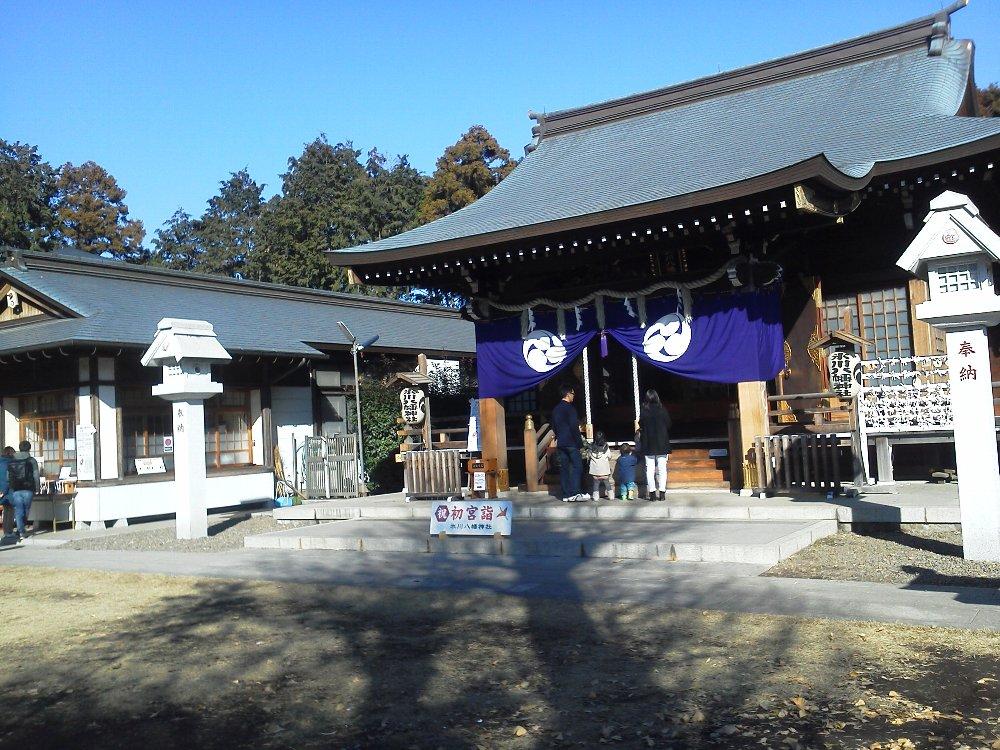 F1001213下新倉氷川八幡神社1月2日