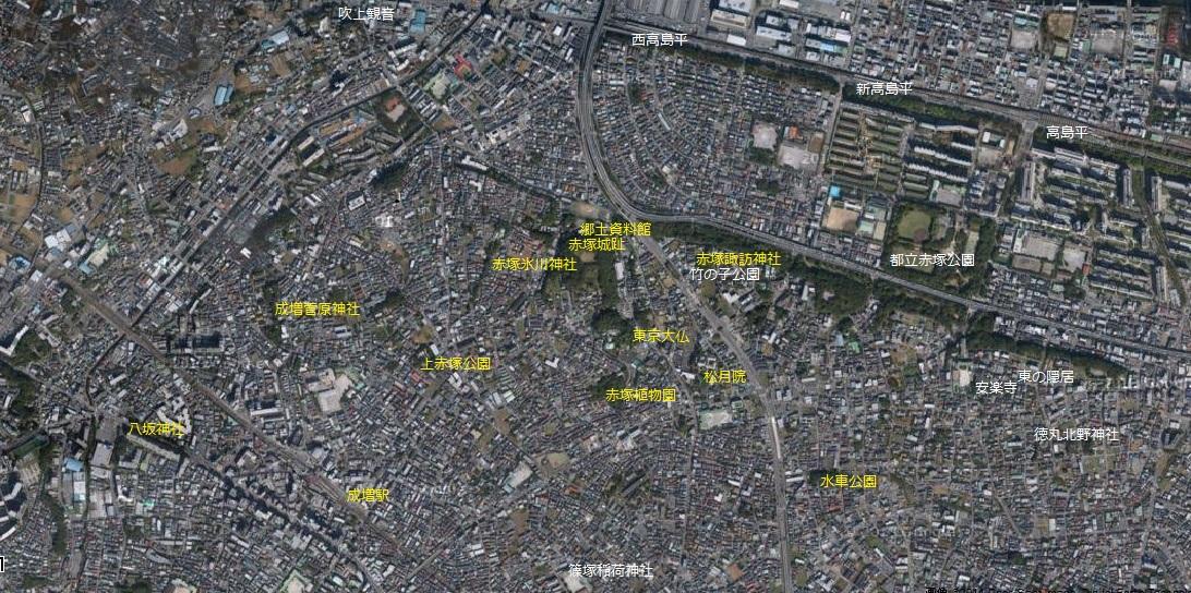 自宅周辺7 赤塚高島平散歩コースの一部