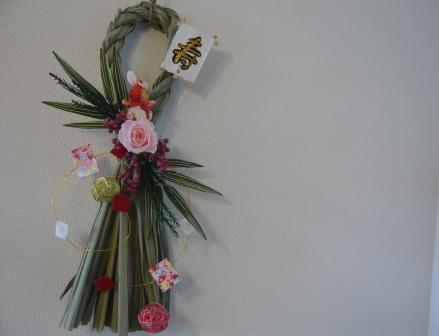 2010.12クリスマス&正月の寄せ植えとプリザのしめ縄飾りp8
