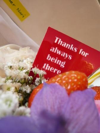 2011.6梅雨にピッタリの贈り物♪お花のケーキp5