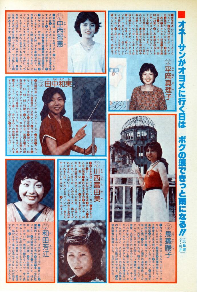 1979年全国お天気おねえさん名鑑...