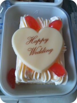 2日目 ハネムーンミールのケーキ