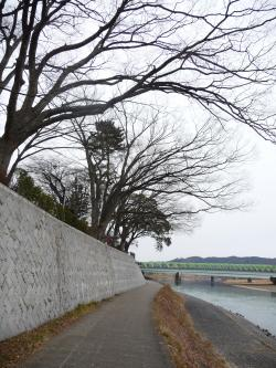 阿武隈川岸