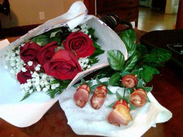 21 birthday rose bacon