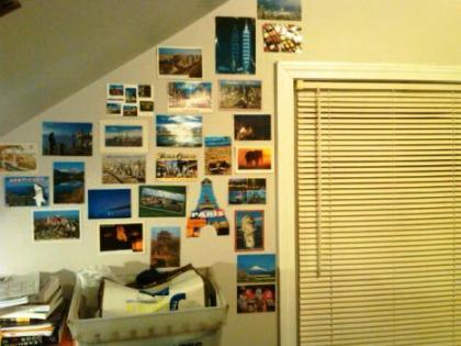 postcard wall