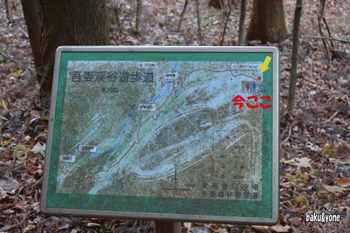 吾妻渓谷遊歩道マップ
