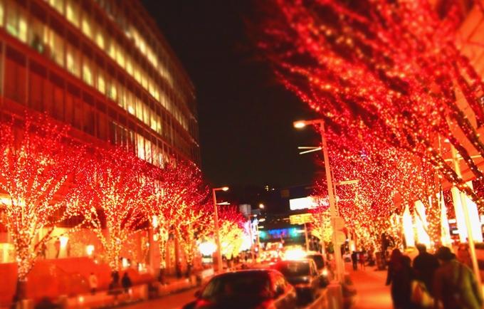 きやき坂★イルミ★赤々バージョン