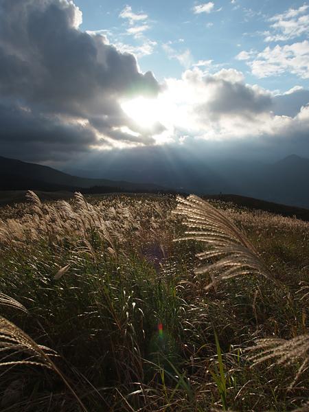 曽爾高原の太陽
