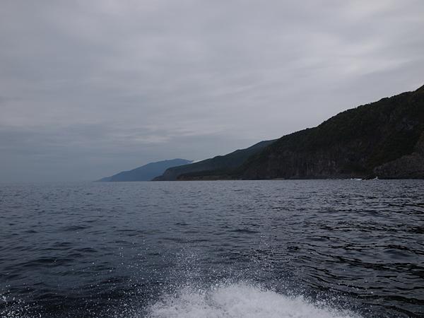 知床半島の曇り空