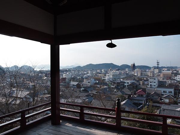 普明閣から眺めた竹原