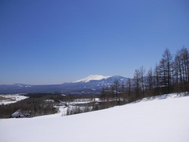 ロマンスコースよりの浅間山
