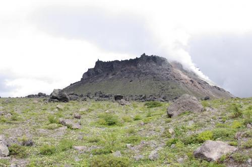 樽前山の溶岩ドーム
