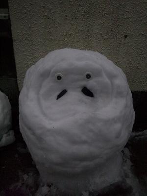 これが雪だるまだ!!