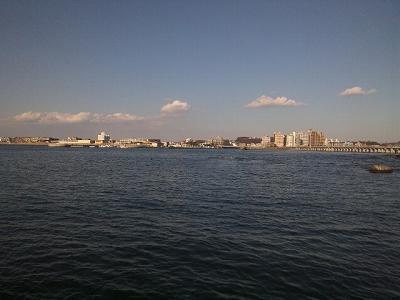 今日は潮が満ちている
