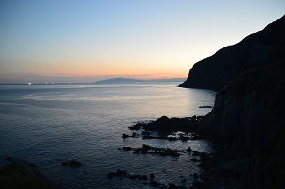 立待岬からの漁火