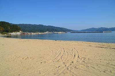 珍しい砂浜