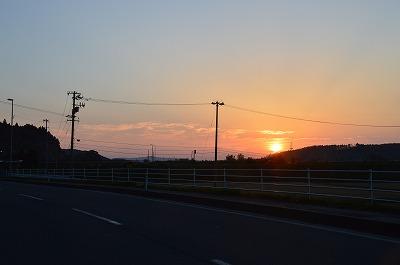 北上の夕焼け