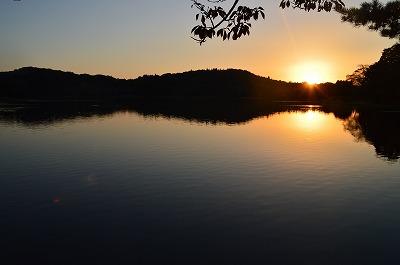 南部湖の夕焼け