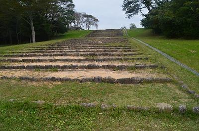 政庁跡への階段