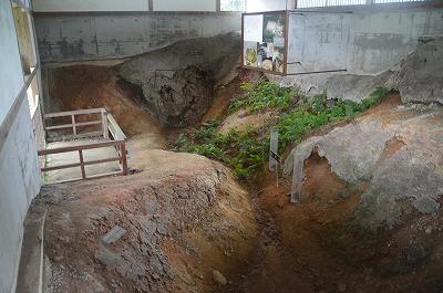 作貫地区の堀を発掘当時のままに
