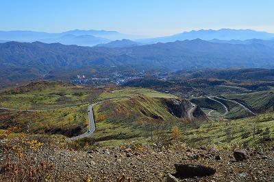 山々と草津温泉