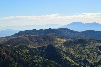 浅間山と富士山