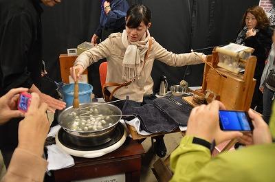 手巻き絹糸