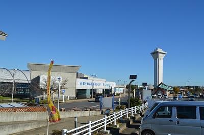 タワーが見える道の駅