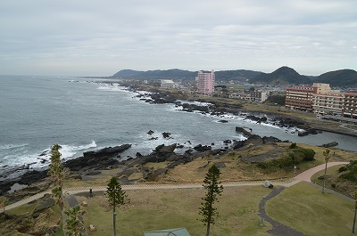 野崎岬灯台からの景色