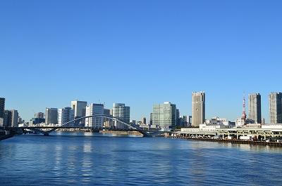 勝鬨橋からの東京タワー