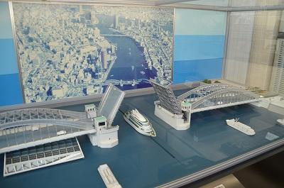勝鬨橋の模型