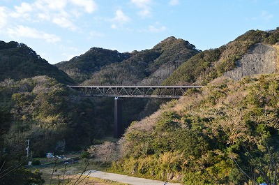 山と山に架かる橋
