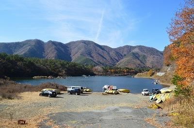 精進湖の景観